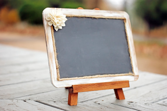 Hochzeit - White Distressed Framed Shabby Chic Rustic Chalkboard - 7x10 Chalkboard - Chalkboard Photo Prop - Rustic Wedding
