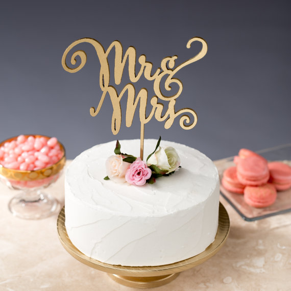 Hochzeit - Mr and Mrs Cake Topper - Wedding Cake Topper - Daydream Collection