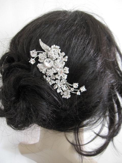 Hochzeit - Wedding hair jewelry bridal hair comb 1920's wedding accessories bridal hair jewelry wedding hair comb bridal accessories wedding hairpiece
