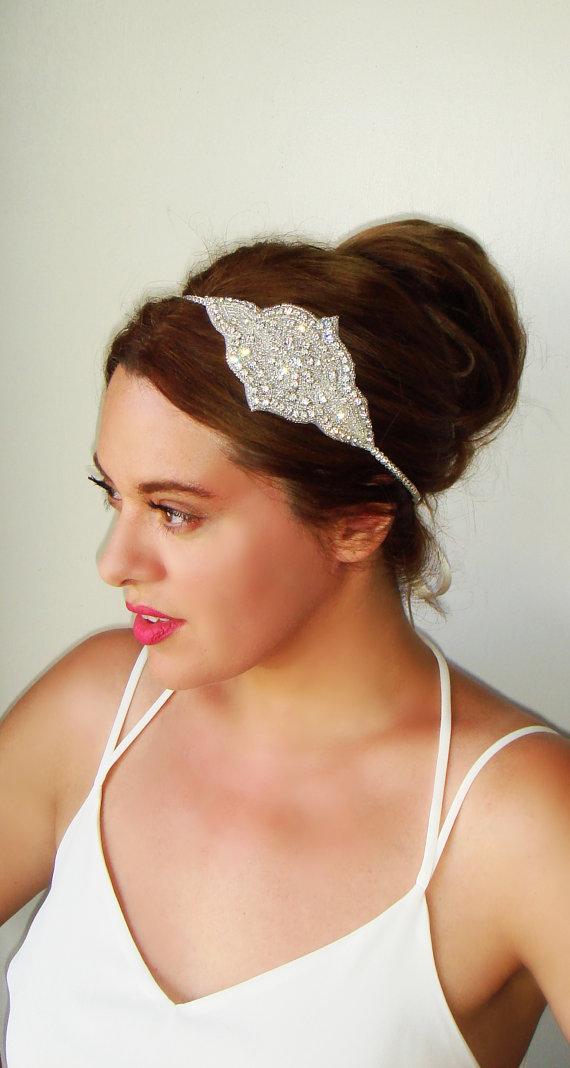 Hochzeit - Weddings, Art deco headpiece, Rhinestone headband, Bridal hair accessory, Bridal headband, 1920s headband, Wedding headband, Gatsby, MARLENA