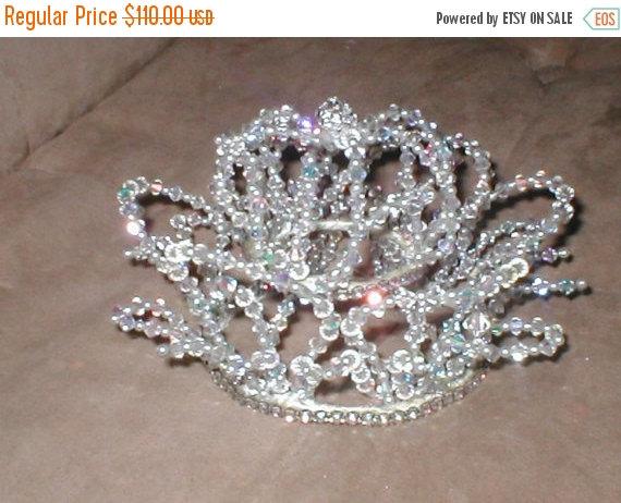 Hochzeit - FALL SALE A Deluxe Vintage 1950's Swarovski Crystal Crown Bridal Headpiece