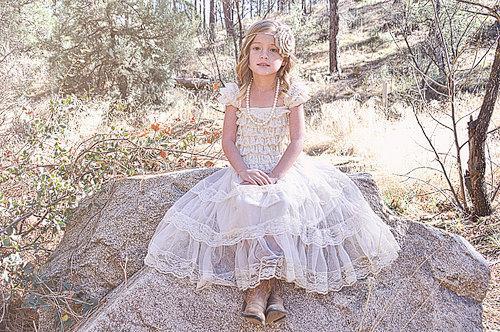 Wedding - Rustic Flower Girl Dress Cream Lace/Shabby Chic Wedding Wheat Cream Flowergirl/Country Wedding-Burlap Flower Girl-Burlap Cream Belt-Sash