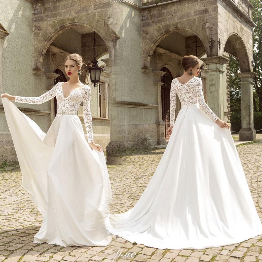 Garden Wedding Dresses With Sleeves Fashion Dresses