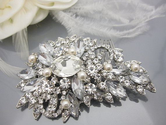 Mariage - Wedding hair comb bridal hair accessory bridal hair comb bridal headpiece wedding comb pearl hair comb wedding hair jewelry bridal accessory
