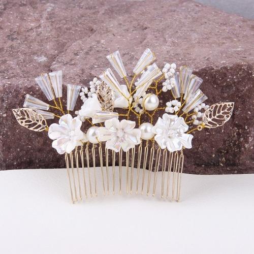 Mariage - Handmade Crystal Wedding Hair Accessories Hair Combs