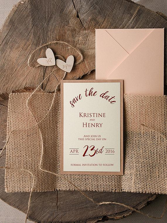its time to save the date ecru card grapevine the timeline of – Wedding Save the Date Invites