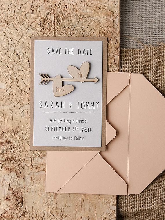 Mariage - Save The Date Cards (20), Rustic Save the Date, Wood Save the Date, Engraved Save the Date, Wedding Save the Date, Model no: 16/rus/std
