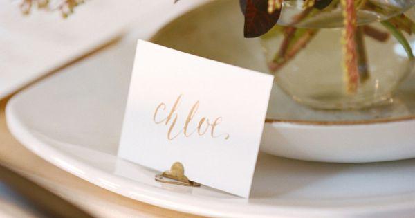Wedding - SMP Blogger Bride: Boxwood Avenue DIY Calligraphy Tablescape