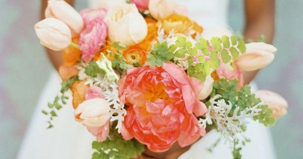 Mariage - Inspired By These Pink, Orange And Yellow Spring Wedding Ideas