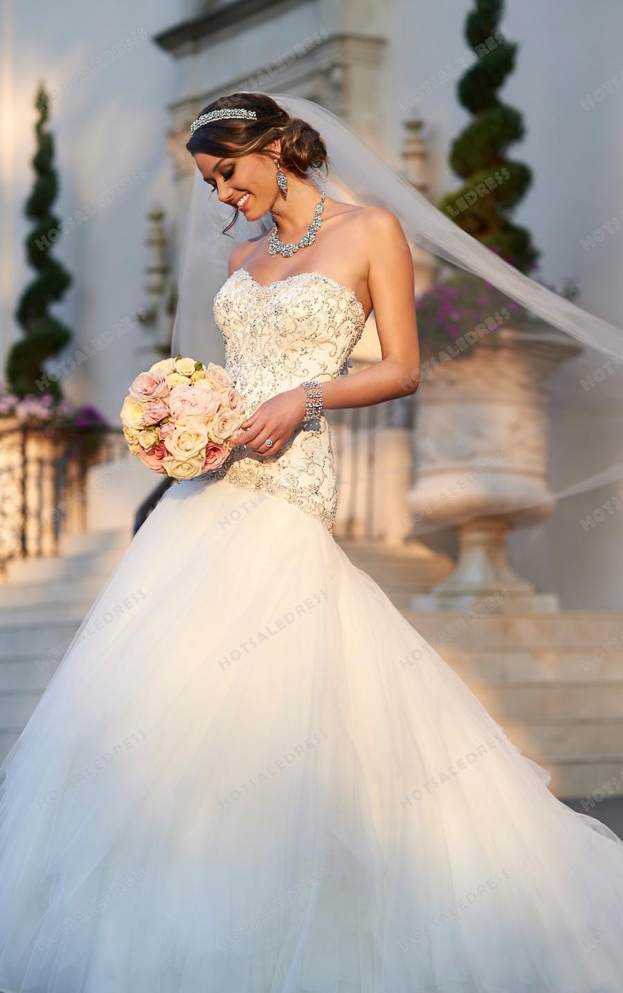 Wedding - Stella York Drop Waist Wedding Dress Style 6049