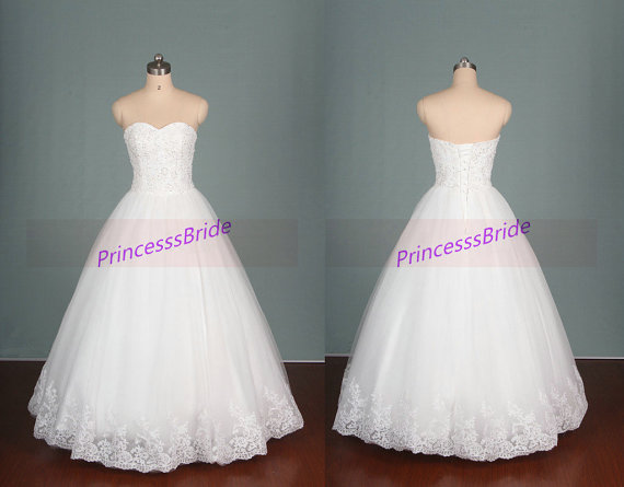 2015 New Design Wedding Gowns With Sequins,ivory Tulle Wedding Dress ...