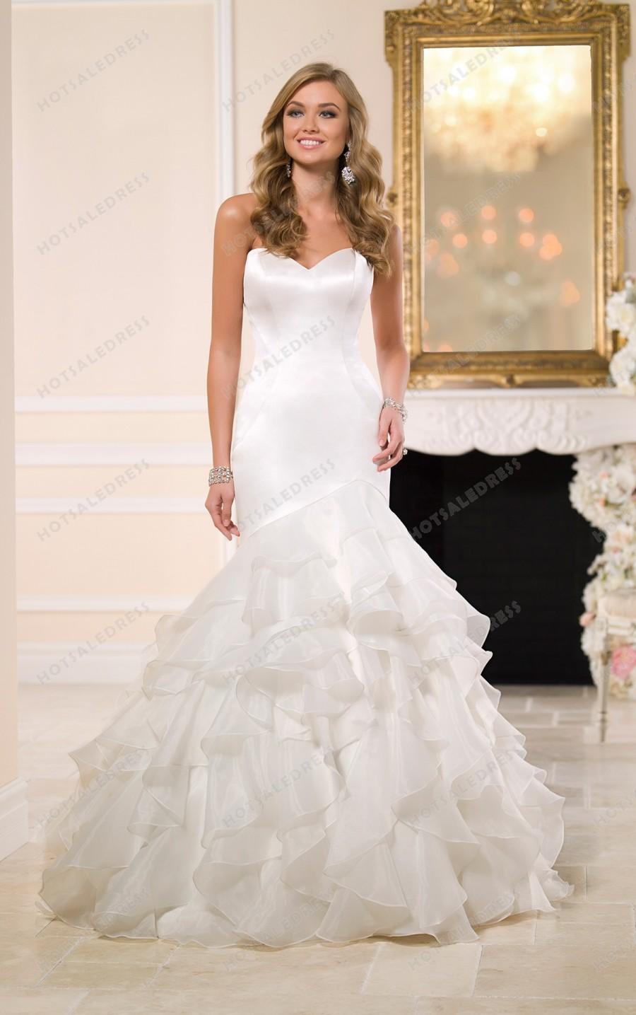 Свадьба - Stella York Satin Wedding Dress Style 6086