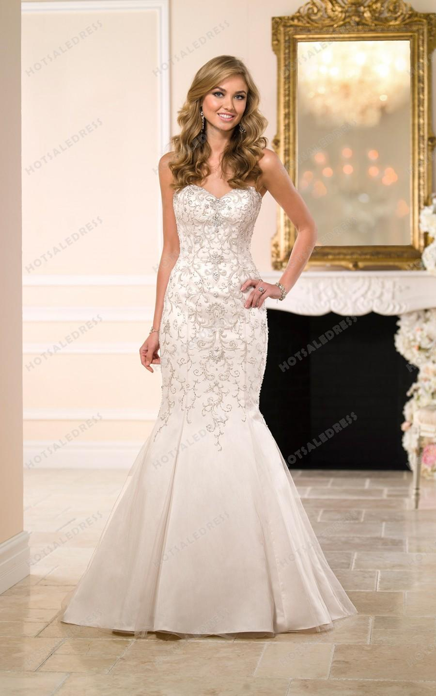 Hochzeit - Stella York Beaded Wedding Dresses Style 6035