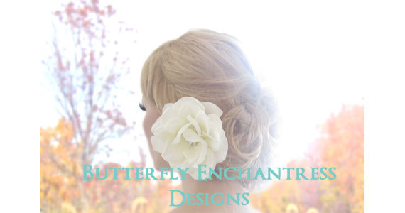 Wedding - Bridal Hair Clip, Wedding Hair Accessories, Hair Flower - Starfire Ivory Natalia Rose Flower Clip