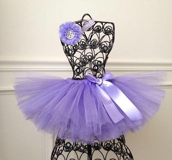 Hochzeit - Lavender Birthday Tutu, Lavender Flower Girl Tutu