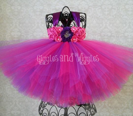 Pink and purple birthday tutu dress pink and purple flower girl pink and purple birthday tutu dress pink and purple flower girl dress mightylinksfo Choice Image