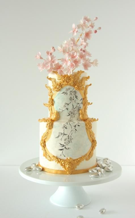 Hochzeit - You Have To See Cherry Blossom Cake By YQ!
