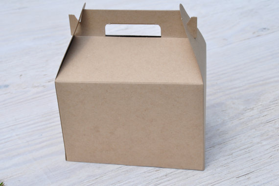 Michaels Brown Favor Boxes : Large x kraft gable boxes brown natural craft favor