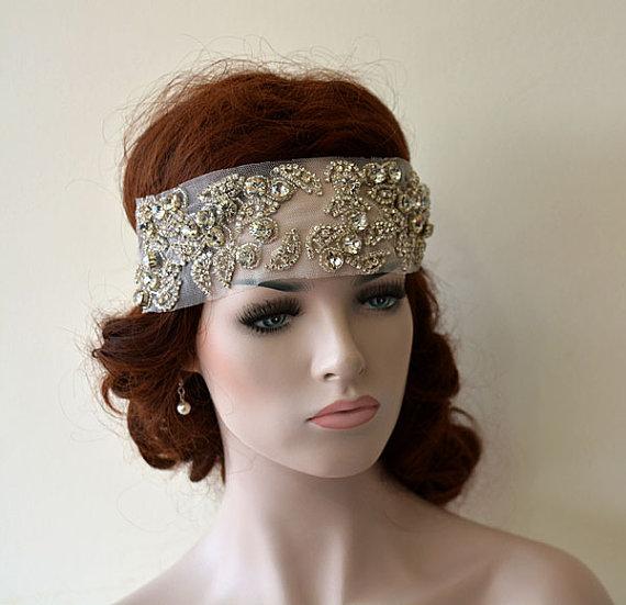 Strange Bridal Veils Crystal Rhinestone Headband Wedding Headband Short Hairstyles For Black Women Fulllsitofus