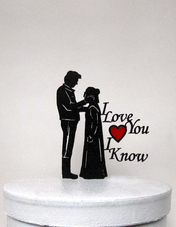 Princess Leia And Hans Solo Cake Topper