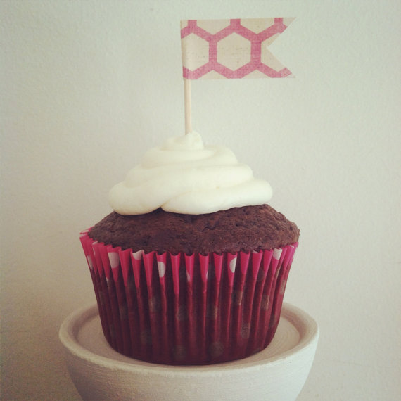 Wedding - 1 Dozen Mini Cupcake Picks