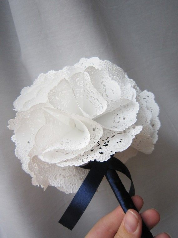Practically perfect paper doily bouquet 2377396 weddbook practically perfect paper doily bouquet mightylinksfo