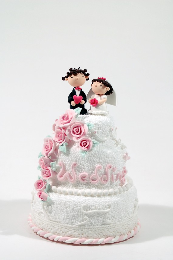 Hochzeit - Wedding cake topper, Decoration, Gift, Keepsake - Listing for the Deposit payment