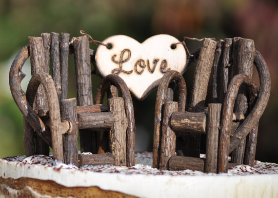Hochzeit - Personalized Rustic Cake Toppers~ Grapevine Twig Chairs~Vineyard~Woodland~Rustic~Cottage Wedding~ Rustic Chic~ Burned/Engraved.