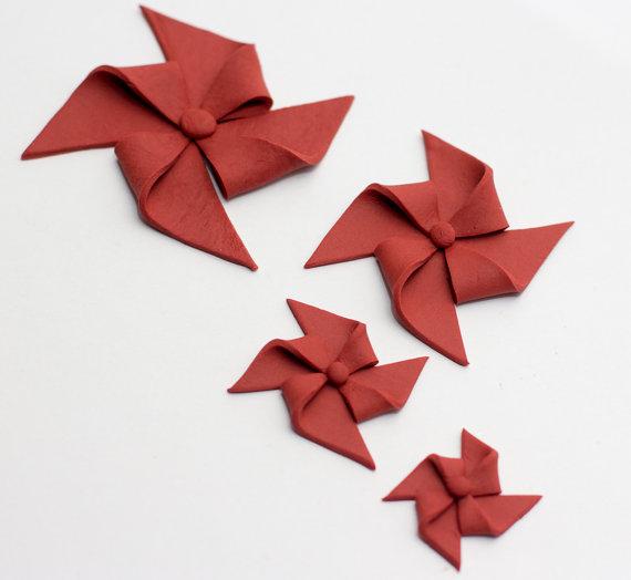 Свадьба - Fondant pinwheels (Set of 8)