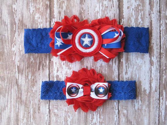 Свадьба - Captain America Lace Garter Set