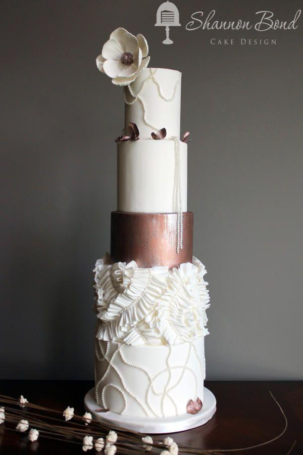 Copper Couture Wedding Cake