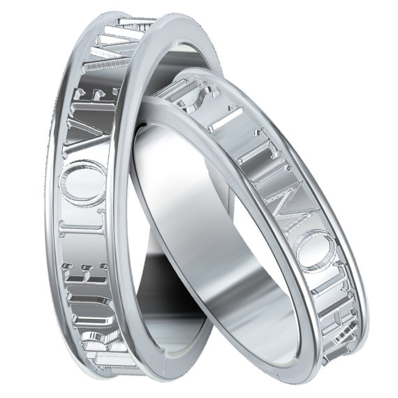 Mariage - Christian Purity Rings Set True Love Waits Custom Made in Sterling Silver, Made in Your Size R5001