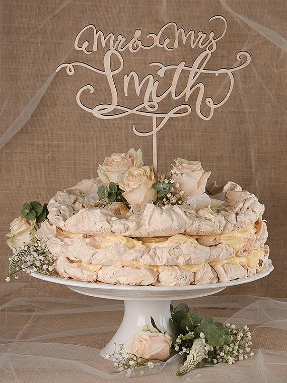 Hochzeit - Rustic Cake Topper, Wedding Custom Cake Topper,  Wood Cake Topper, Mr Mrs Topper Wedding, Personalized Cake Topper, Model no: 04/rus1/CT
