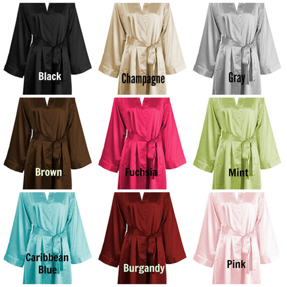 0a6885ff18 Personalized Silk Satin Robes