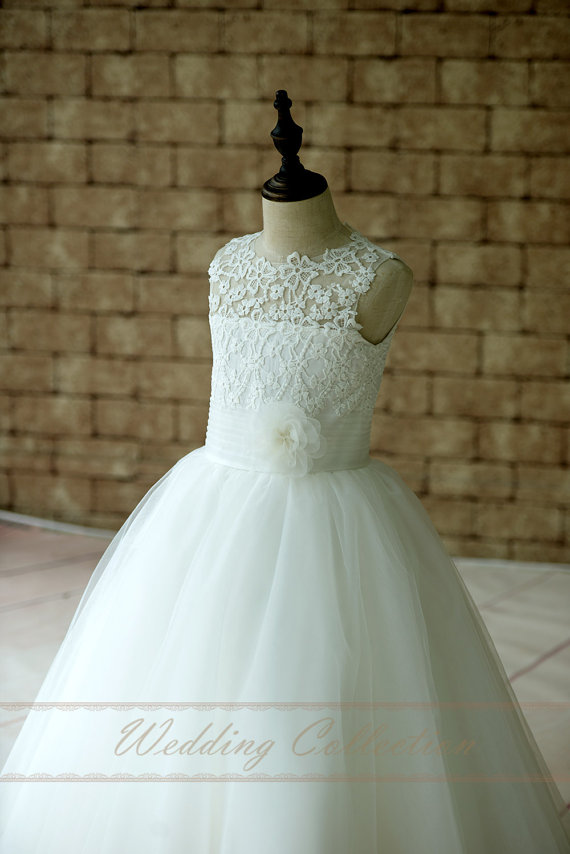 Lace Floor Length Flower Girl Dress