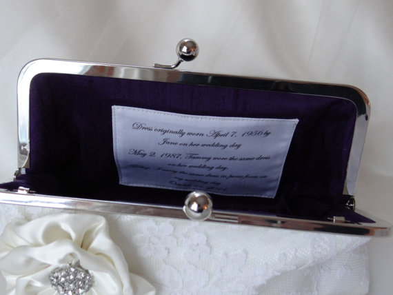 Wedding - Custom Personalized Label for Bridesmaid and Bridal Clutch
