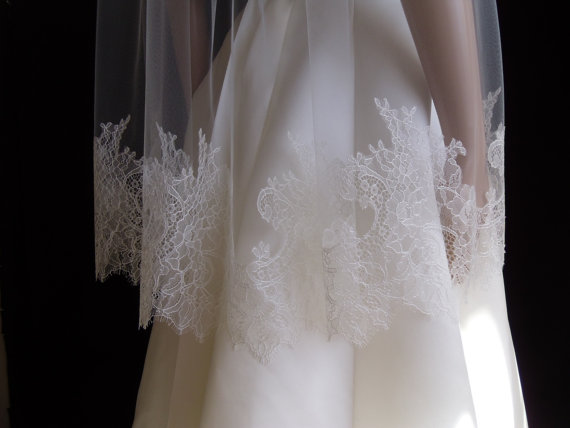 Mariage - Chantilly Style Wedding Veil