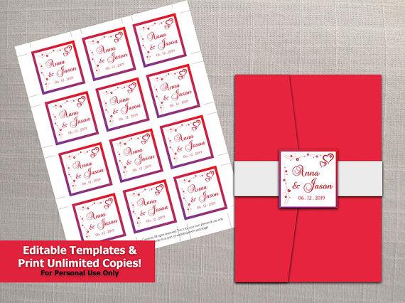 Seal And Send Wedding Invitations Diy: DIY Printable Wedding Invitation Seal Template #2378175
