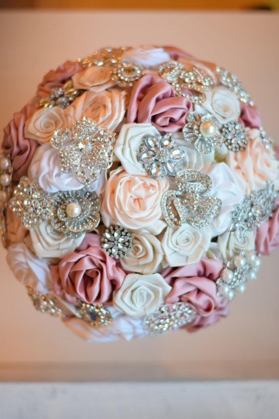 Decor - Satin Flower Brooch Bouquet #2378213 - Weddbook