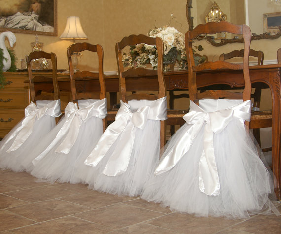 Handcrafted Chair Tutus For Your Wedding Or Bridal Table Also