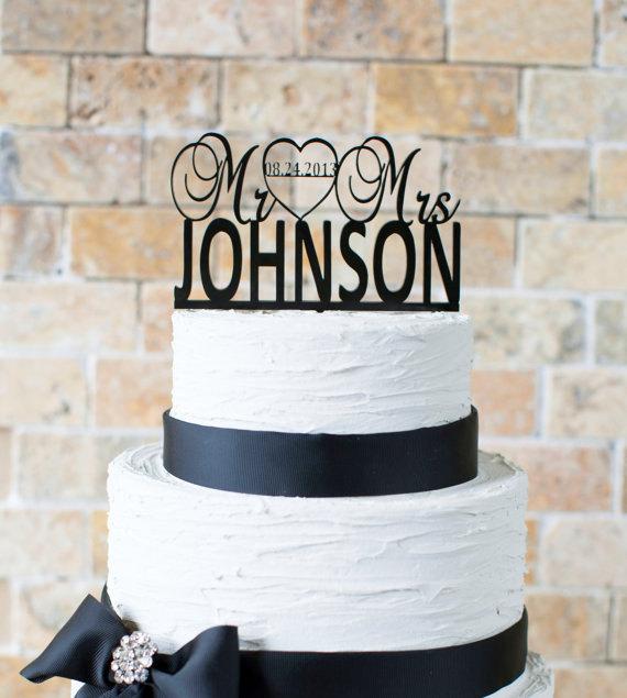 Mariage - Wedding Cake Topper Personalized Cake Topper Wedding Decor