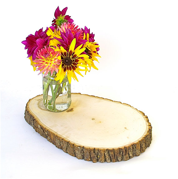 SALE Extra Thick Extra Large Oval Shape Wood Tree Slice Rustic Cake ...