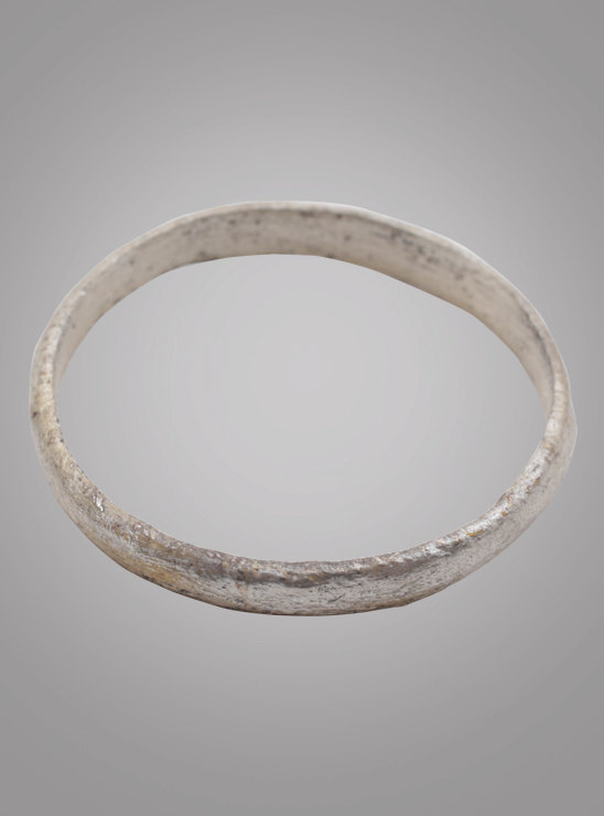 Wedding - Ancient Viking Silver over Bronze Wedding Band Jewelry C.866-1067A.D. Size 10 1/2   (19.9mm)(BRR851)