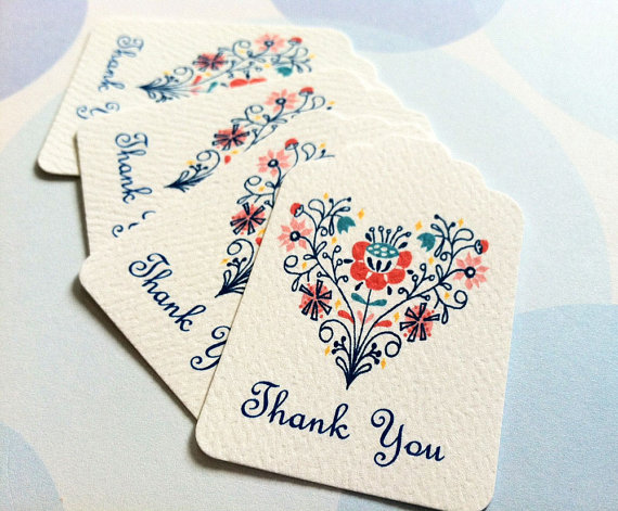 Свадьба - Thank You Tags, Wedding Favor Tags, Set of 36