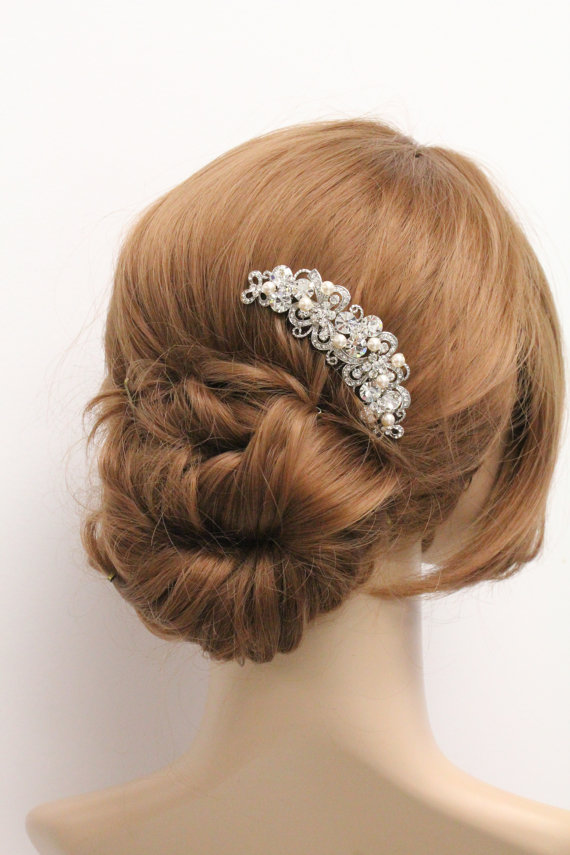 زفاف - wedding hair piece,pearl bridal comb,bridal headpiece,wedding  hair accessories,weddings bridal accessories hair,wedding hair comb,crystal