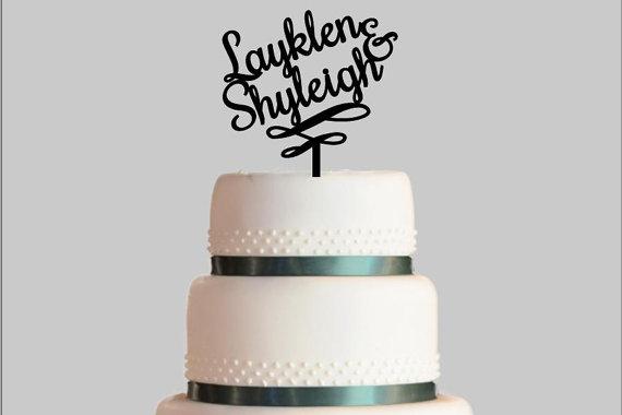زفاف - Wedding Cake Topper, Couple's Names Cake Topper, Bridal Shower, Wedding, Bachelorette, Congratulations, Acrylic Cake Topper