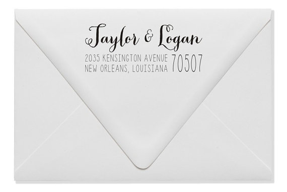 Mariage - Wedding Return Address Stamp - Custom Address Stamp - Personalized Wedding Gift (144)