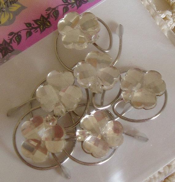 Mariage - Irish Wedding Crystal Clear Shamrock Hair Swirls Hair Spins Spirals Twists or Coils Irish Dancer