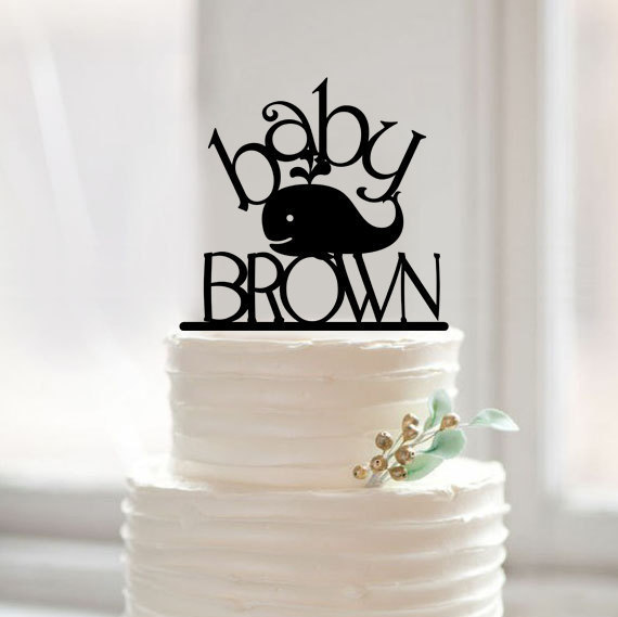 Baby Shower Cake Topper Custom Cake Topper With Whale For Kids