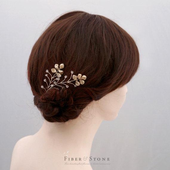 Mariage - Swarovski Pearl Wedding Hair Pin, Pearl Bridal Hairpins, Pearl Wedding Hair Vine, Swarovski Bridal Hair Piece, Pearl Bridal Hair Accessory